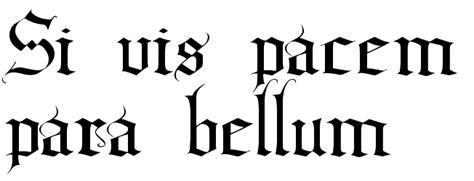 quot si vis pacem para bellum quot tattoo script free scetch