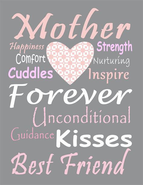 Mothers Day Subway Art Printables Free | 9 free printable mother s day subway art prints