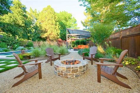 Outdoor Patio Pits by Superb Polywood In Patio With Pea Gravel