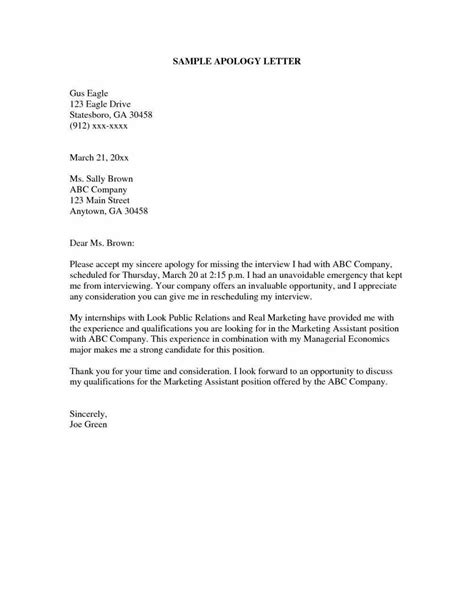 apology letter template for behaviour apology apology letter sle for bad behavior