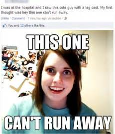 Overly Attached Girlfriend Meme - overly attached girlfriend finds a cute boy in a cast