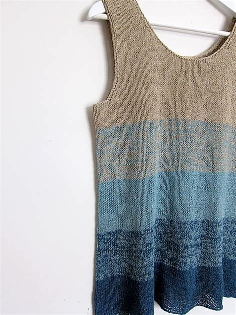 Knit Tank ravelry ombre tank pattern by espace tricot free