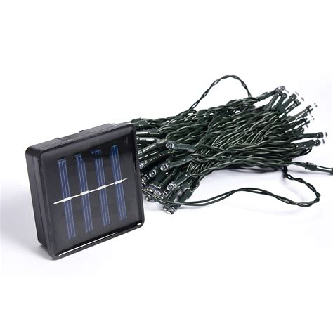 blue white warm white multicolor 12m 100 led solar lights