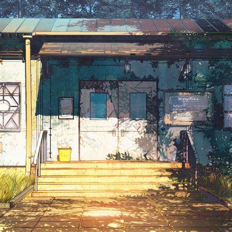 anime house i love papers av21 c wood house anime illustration