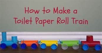 How To Make Paper Trains - toilet paper roll craft activities