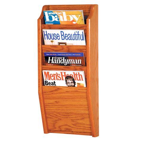 wooden wall magazine rack wooden magazine rack 4 pocket in wall magazine racks