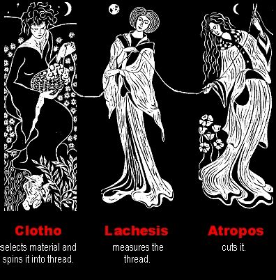three fates tattoo clotho the loved lachesis the outcast atropos the