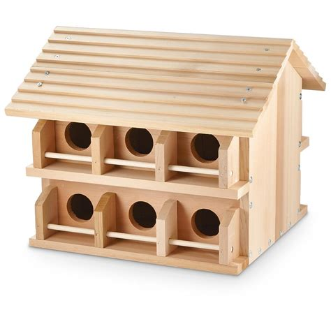 martin houses wooden purple martin bird house 617486 bird houses feeders at sportsman s guide