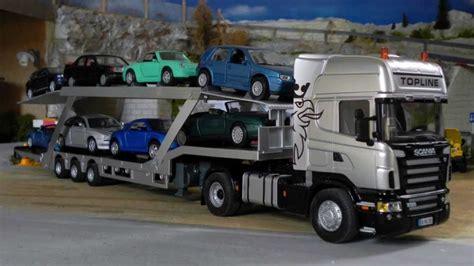 Rc Truck Carrier Continental siku control32 scania r620 tieflader umgebaut zum autotransporter rc truck car carrier 1 32