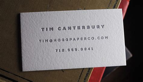 paul allen business card template minimal letterpress printing hoban cards