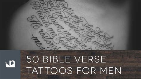 bible verses tattoos for men 50 bible verse tattoos for