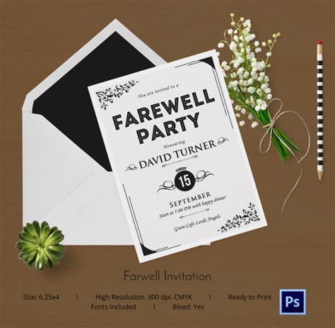 invitation card template for farewell farewell card template 25 free printable word pdf psd