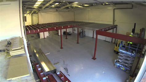 how to build a mezzanine constructing a mezzanine floor in record time timelapse