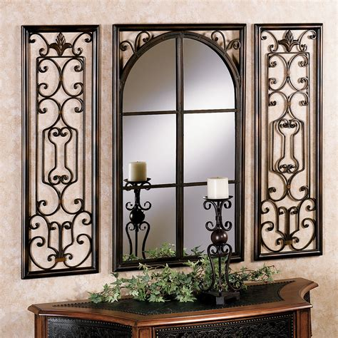 wall of mirrors provence bronze finish wall mirror set