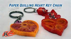 How To Make Paper Key - diy paper quilling keychain jk arts 164