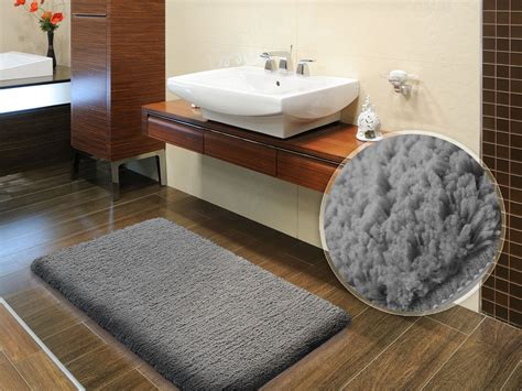 How To Make A Bathroom Rug Sky Bath Mat Grey Available In 6 Sizes
