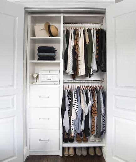 organizing small closet small reach in closet organization ideas the happy housie