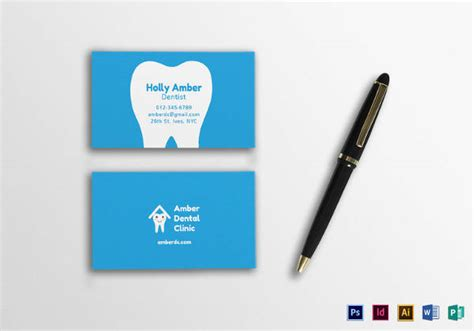 21 awesome business card template for doctors sle