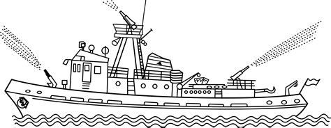 fireboat white fire boat clipart clipground