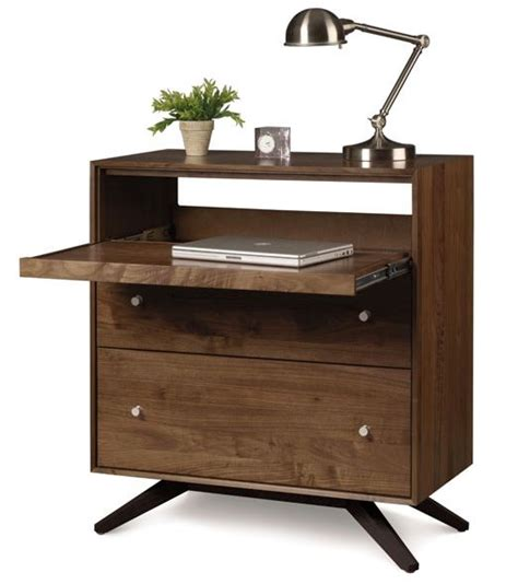 Small Desk Drawers Walnut 2 Drawer Laptop Desk