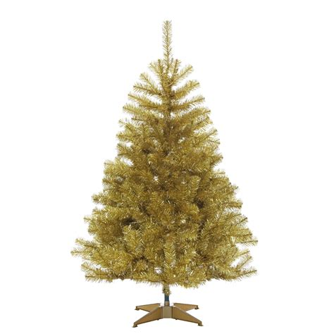 4 5ft Chagne Gold Tree With 200 Clear Lights Gold Tree Lights