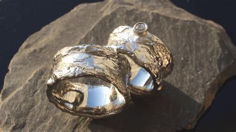 Ausgefallene Eheringe by Ausgefallene Eheringe Mit Diamanten Aus Wei 223 Gold Geh 228 Mmert