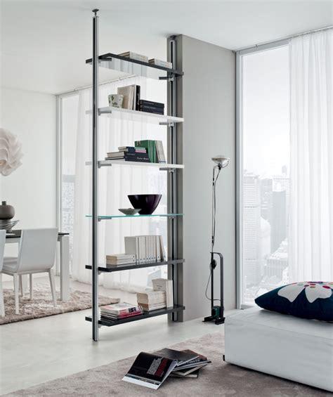 mensole a soffitto libreria bifacciale divisorio pr ruby l97 cm montanti