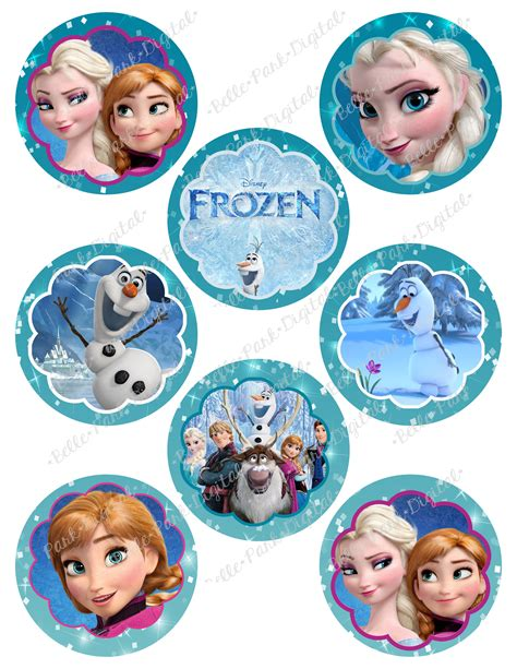 Topper Frozen by Frozen Cupcake Toppers For Childrens