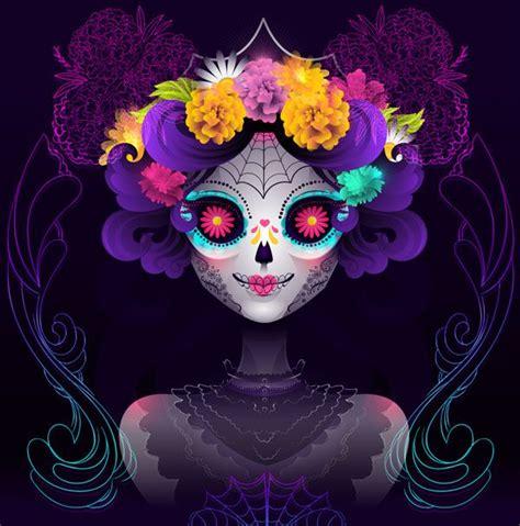 tutorial illustrator neon how to make a neon calavera girl vector portrait in adobe