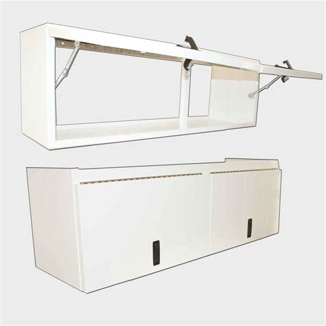 overhead cabinet 48 0 quot length flip up door white
