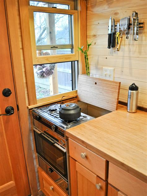 tiny home kitchen design tiny homes that are big on storage hgtv s decorating