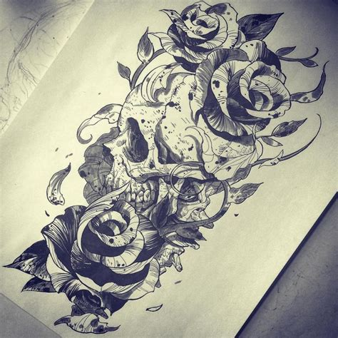 tattoo ink art roses and skulls designs www pixshark com images