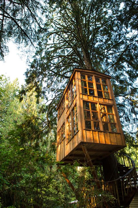 tree house point treehouse point tiny house swoon