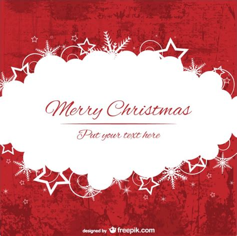 red  white merry christmas background template vector
