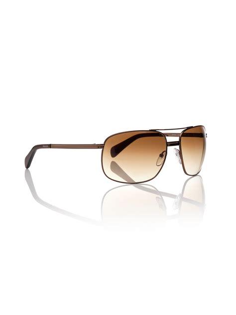 prada mens sunglasses in brown for lyst