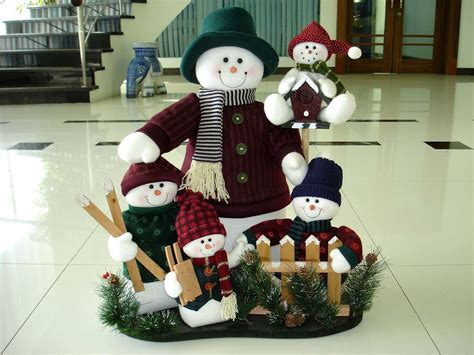 china christmas decoration snowman navidad family set