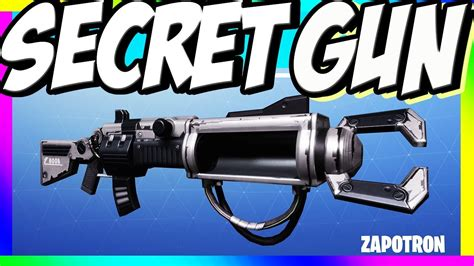 fortnite zapatron sniper the zapatron fortnite s secret gun forums