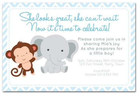 Animal Themed Baby Shower Invitations by The Chic Boutique Baby Shower