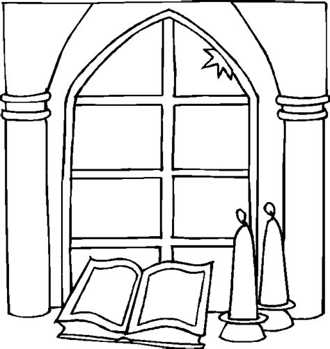coloring page for window free coloring pages of church to colour in