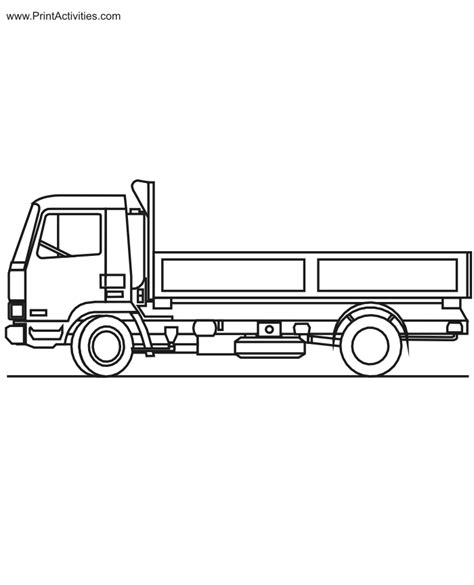 flat bed coloring page free coloring pages of flat bed truck