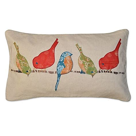 bed bath and beyond husband pillow tori birds rectangle throw pillow in beige bed bath beyond