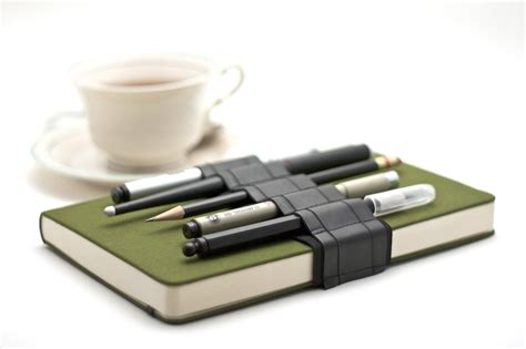 Handmade Pen Holder Design - journal bandolier reclaimed rubber a better pencil