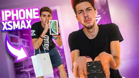 quebrei o iphone x do meu primo e comprei o novo iphone xs max para ele