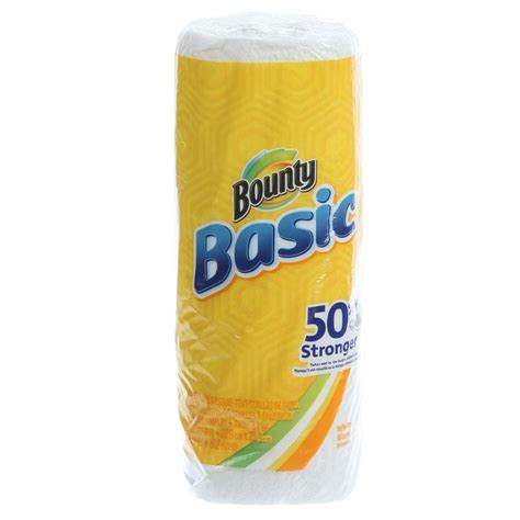 Who Makes Bounty Paper Towels - bounty basic 1 ply white paper towels 003700092976 the