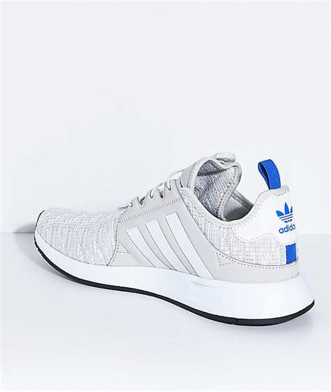 adidas xplorer light grey blue and white shoes zumiez