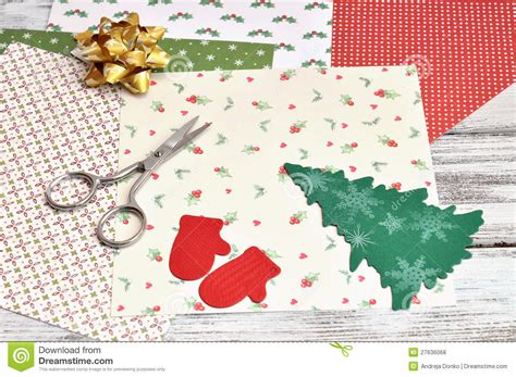 christmas craft supplies royalty free stock photos image