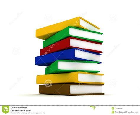 imagenes libres libros pila de libros multicolores en el fondo blanco