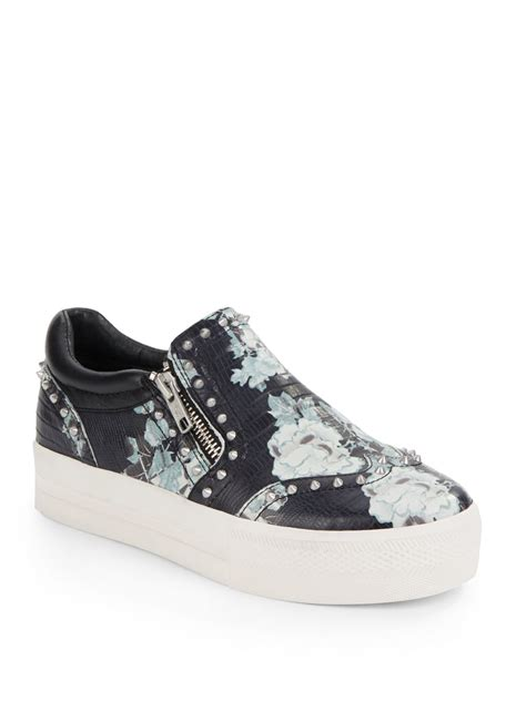 leather platform sneakers ash leather studded platform sneakers lyst