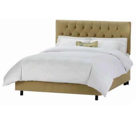 qvc beds tufted velvet bed full qvc com