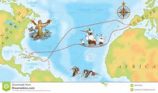 where is columbus on a map navy map christopher columbus way stock illustration